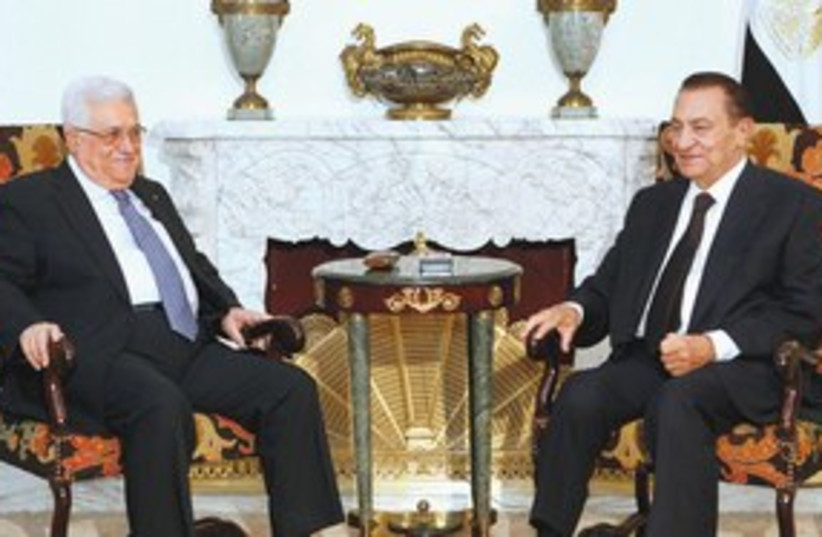 311_Fat abbas and mubarak (photo credit: Associated Press)