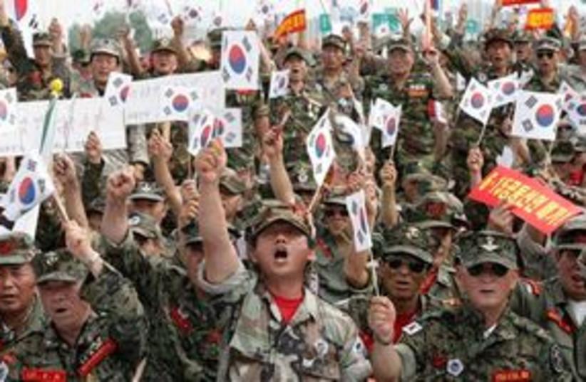 South Korean veterans 311 (photo credit: Associated Press)