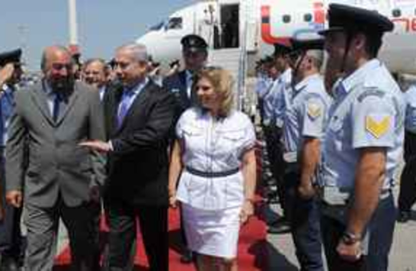 Netanyahu Greece (photo credit: Amos Ben Gershom)