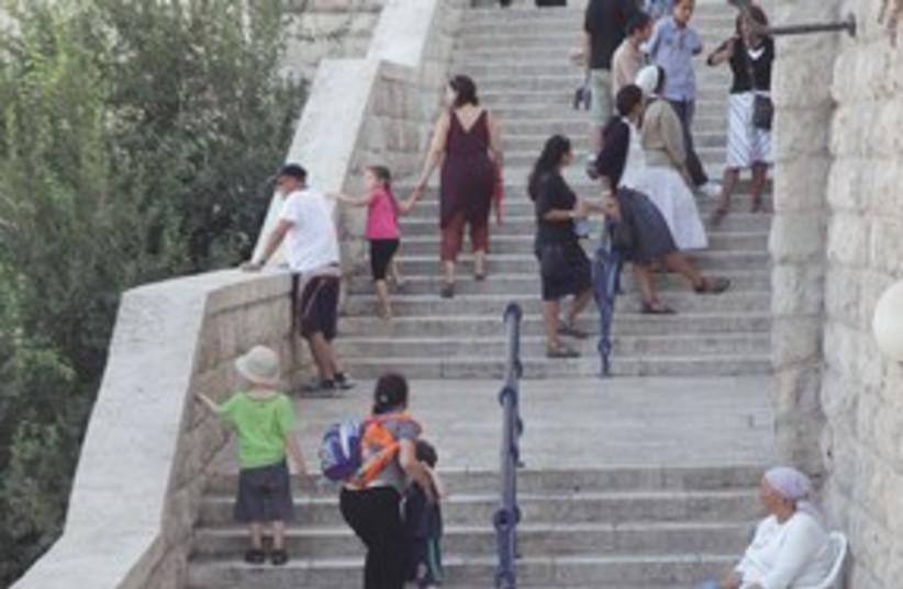 311_Kotel steps (photo credit: Marc Israel Sellem)