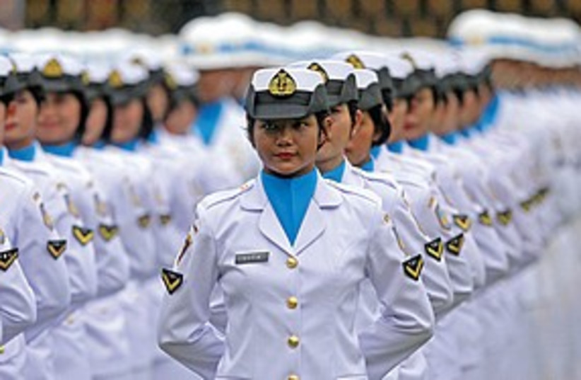 Indonesian sailors (photo credit: Associated Press)