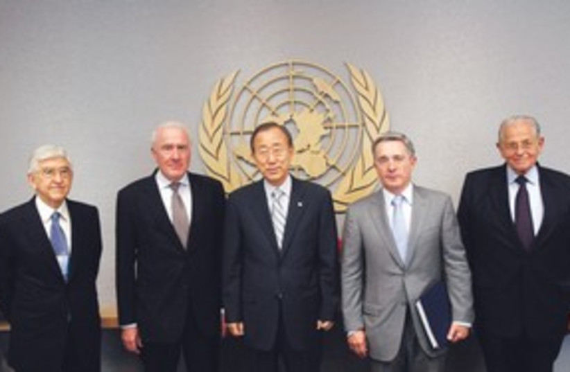 UN Flotilla Committee 311 (photo credit: Associated Press)