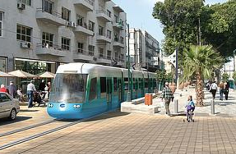 Light Rail Tel Aviv (photo credit: Courtesy)