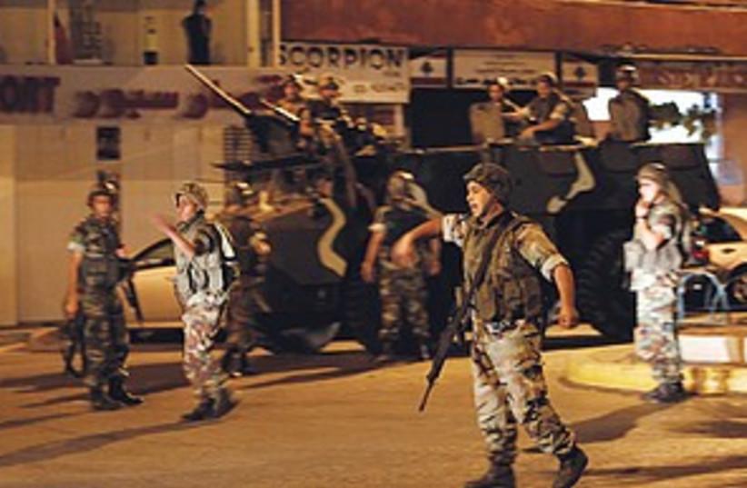 Lebanon clashes (photo credit: Associated Press)