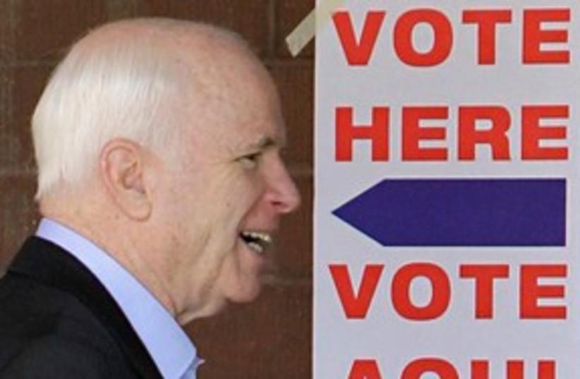 McCain 311 (photo credit: AP Photo/Matt York)