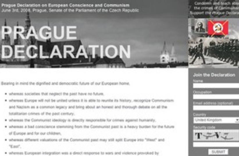 Prague Declaration 311 (photo credit: Courtesy)