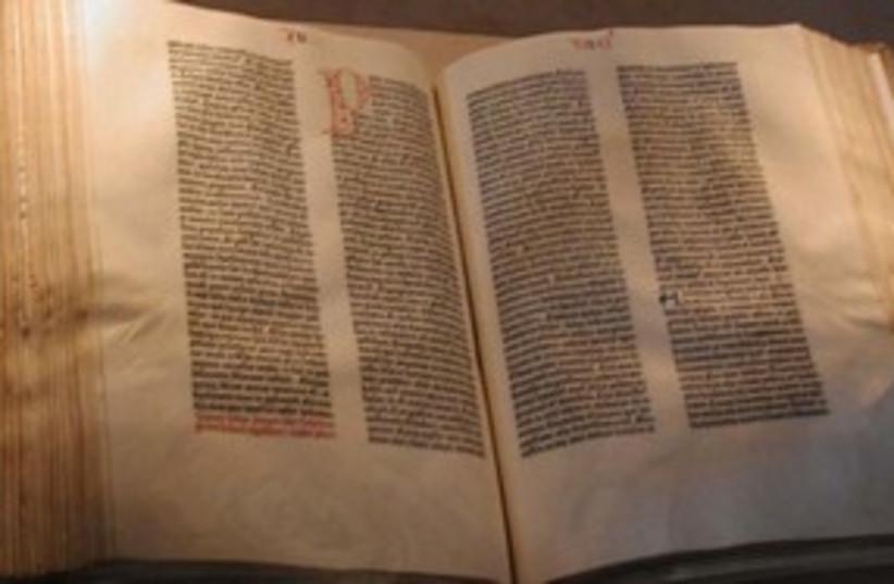 311_Guttenberg Bible (photo credit: Associated Press)
