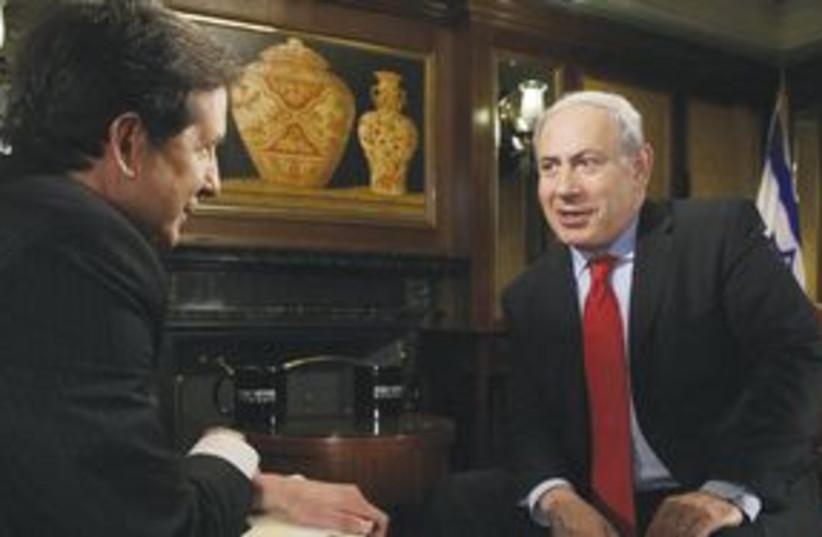 Netanyahu on Fox News (photo credit: Associated Press)