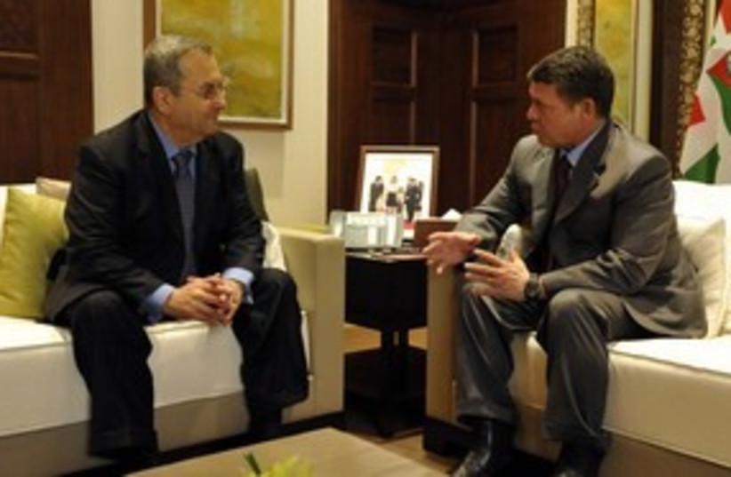 Barak and Abdullah meet (photo credit: Ariel Harmoni, Defense Ministry)