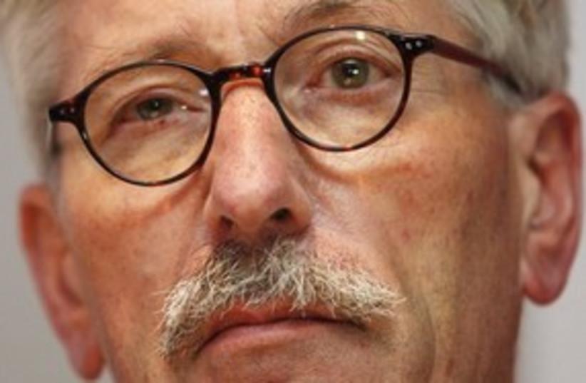 Thilo Sarrazin of the German Bundesbank (photo credit: Associated Press)