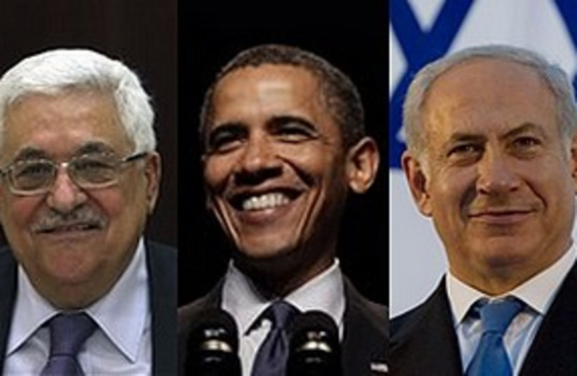 peace talks trio 311 AP (photo credit: Associated Press)
