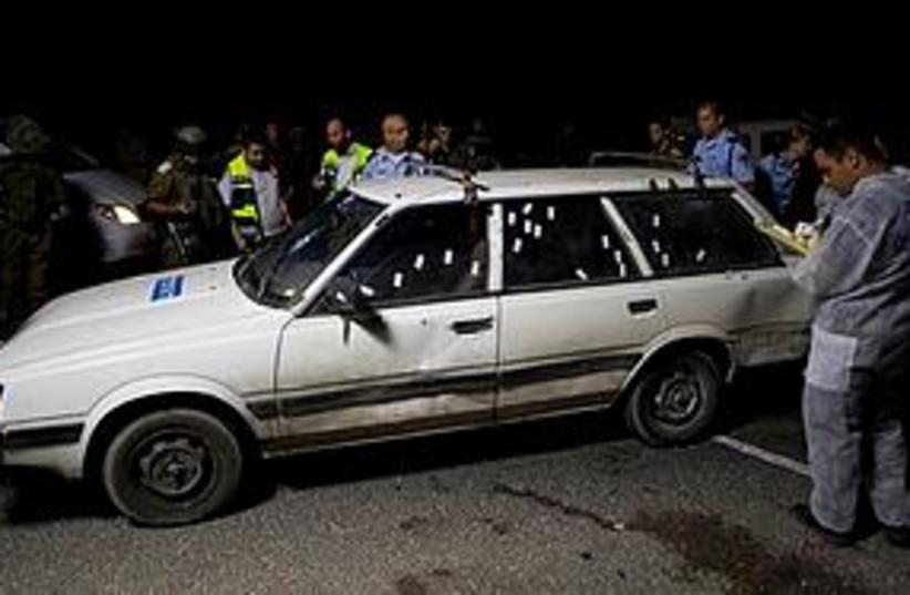 shooting car 311 AP (photo credit: AP)