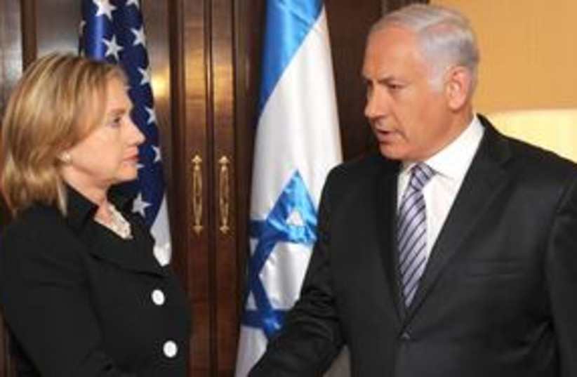 Netanyahu Clinton (photo credit: Moshe Milner GPO )