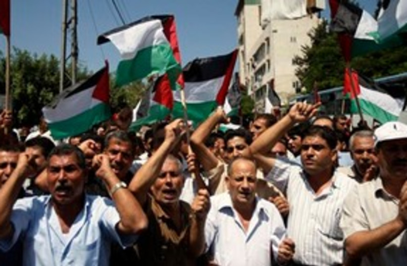 Palestinians protest talks 311 (photo credit: Associated Press)