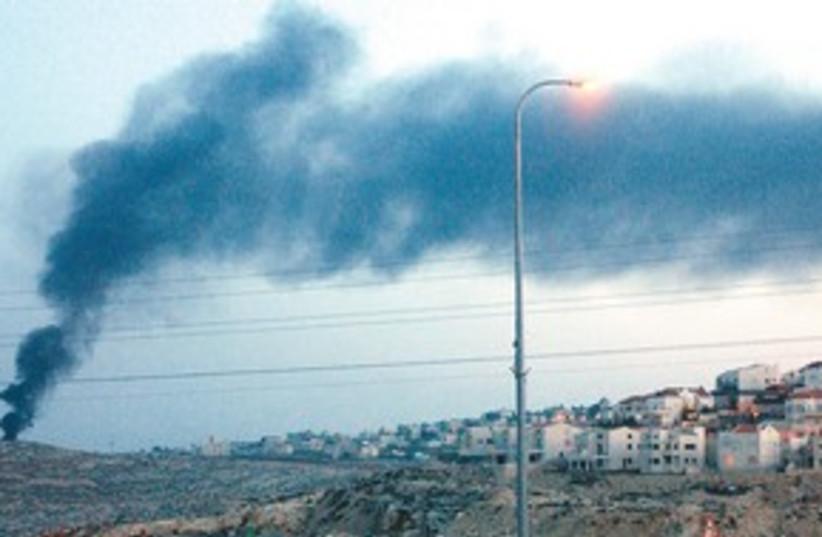 311_smoke cloud  (photo credit: Ariel Jerozolimski)