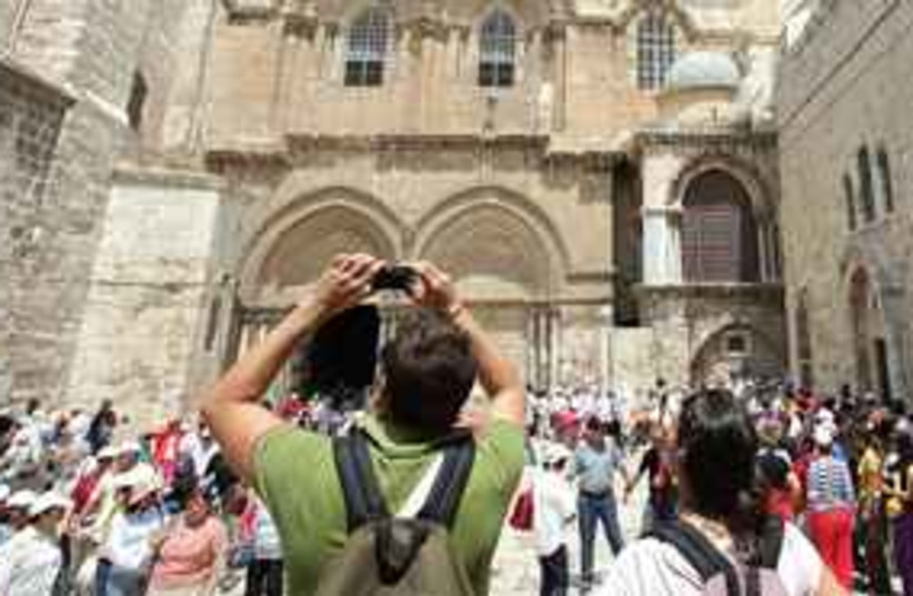 tourists at church  (photo credit: Courtesy)