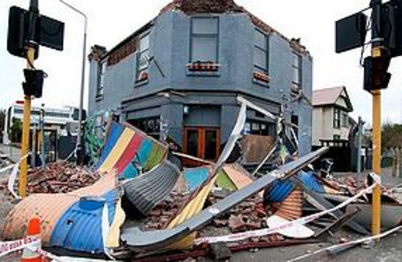 NZ earthquake (photo credit: Associated Press)