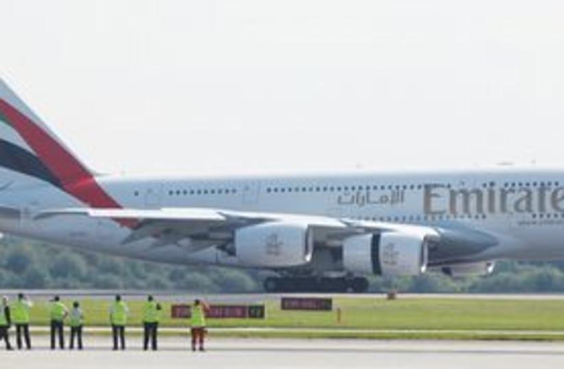 Emirates plane 311 (photo credit: AP)