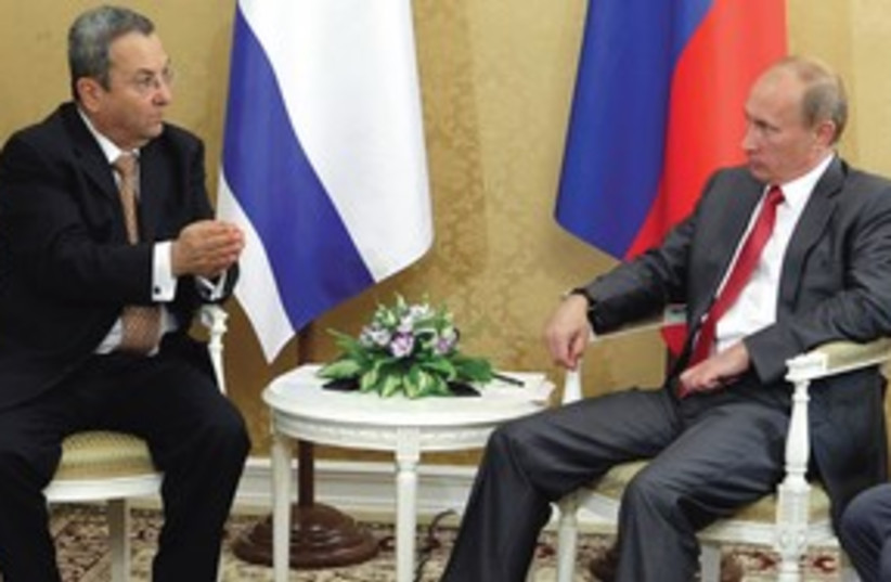 Barak and Putin 311 (photo credit: Associated Press)