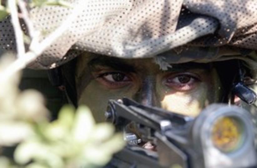 311_camouflage (photo credit: Marc Israel Sellem/The Jerusalem Post)