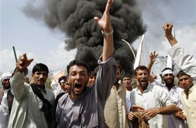 Afghans at protest