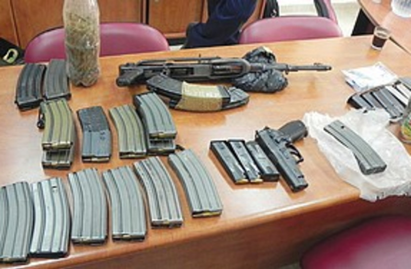 weapons (photo credit: Israel Police)
