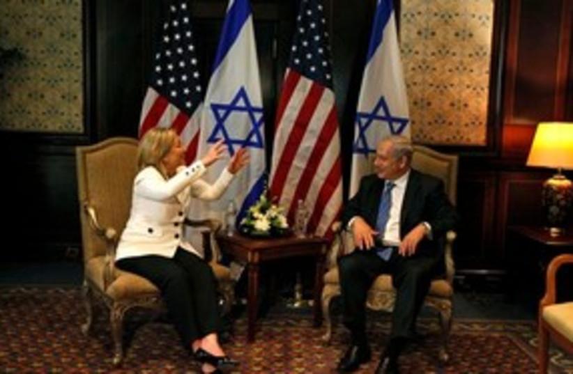 Clinton Netanyahu 311 (photo credit: Associated Press)