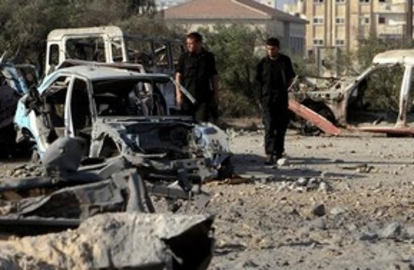 Gaza Air Strike Damage 311 (photo credit: Associated Press)