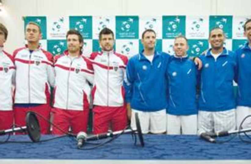 Davis Cup 311 (photo credit: Ariel Schalit/AP)