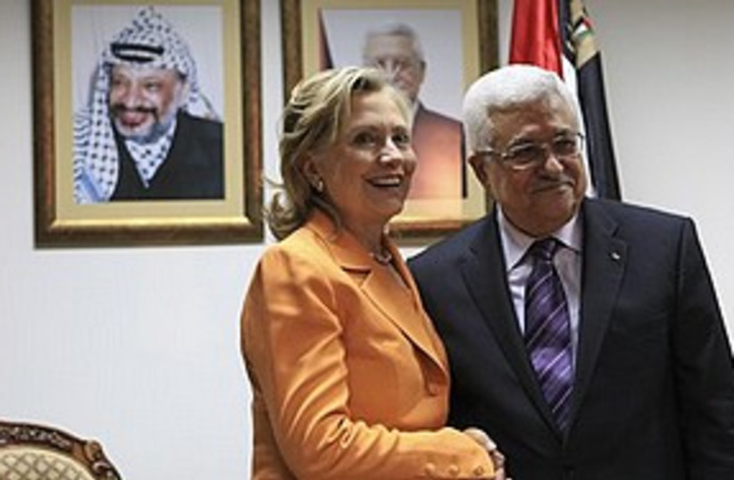 Clinton Abbas Ramallah 311 AP (photo credit: Associated Press)