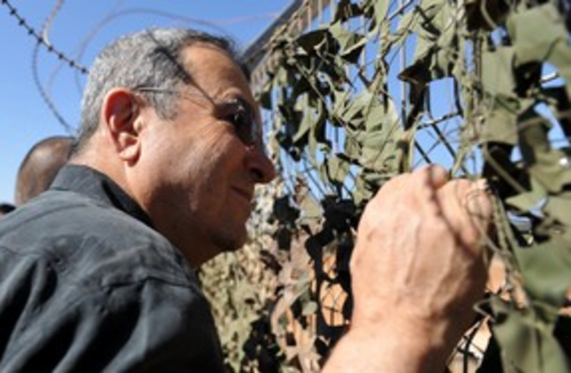 Barak side shot on Lebanon border 311 (photo credit: Ariel Harmoni, Defense Ministry)