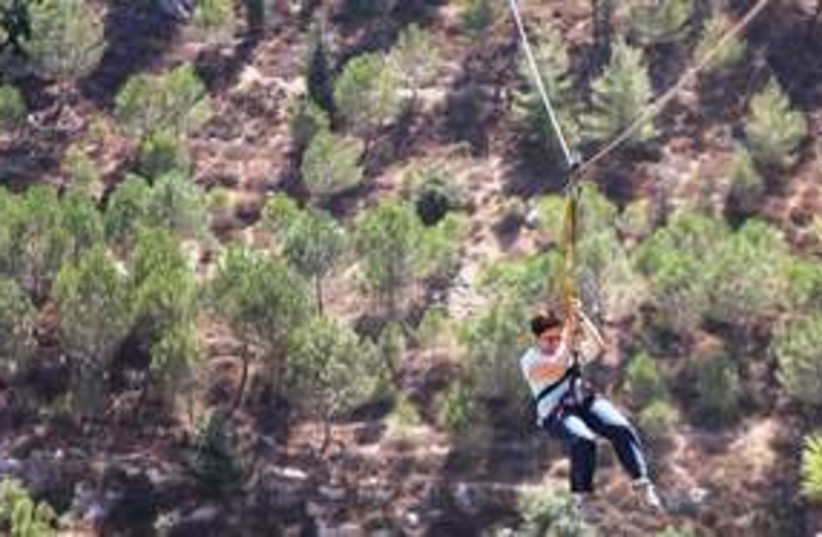 311_zipline (photo credit: Shmuel Bar-Am)