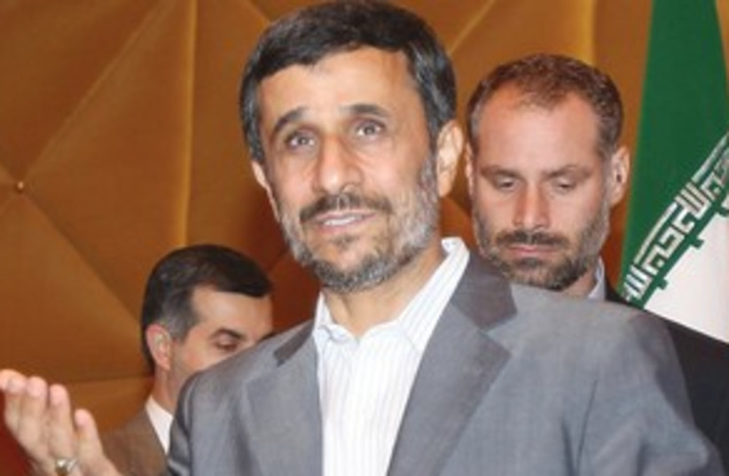 Ahmadinejad friendly 311 (photo credit: Associated Press)