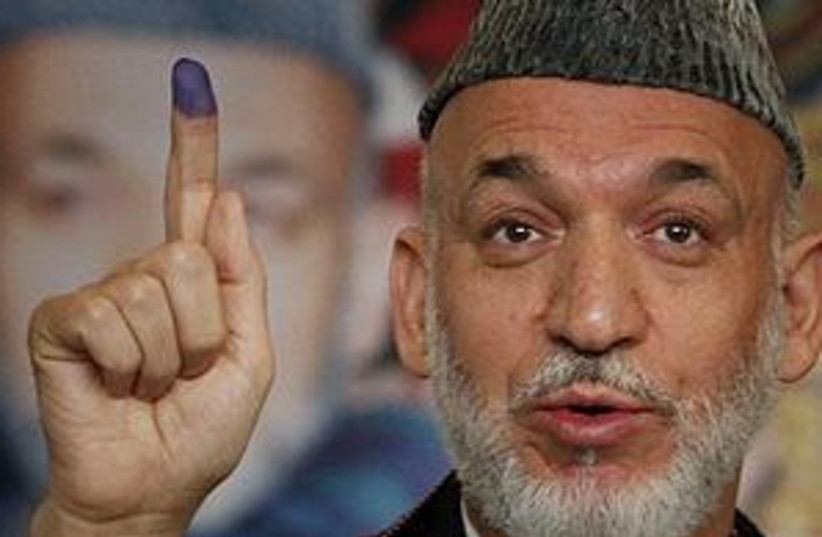 Karzai Election 311 (photo credit: Associated Press)