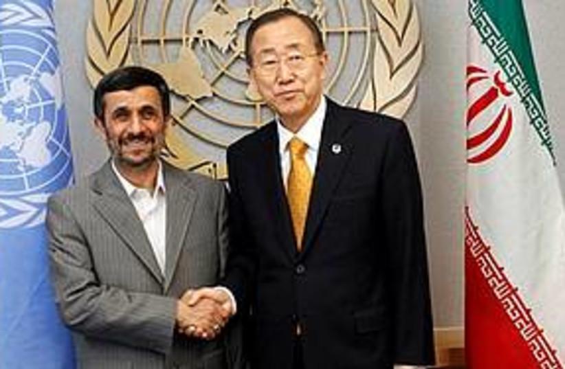 Ahmadinejad UN 311 (photo credit: Associated Press)