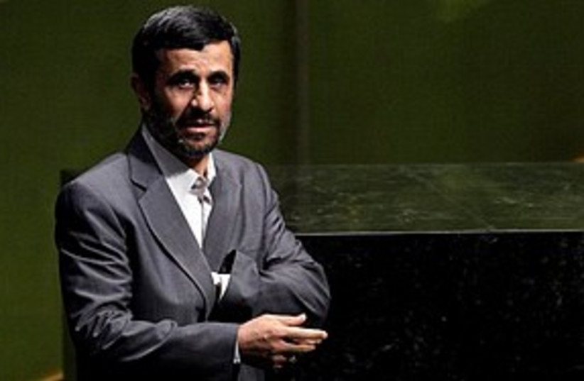 Ahmadinejad speaks in NY (photo credit: Associated Press)