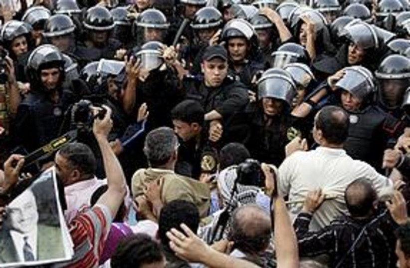Cairo protests (photo credit: Associated Press)