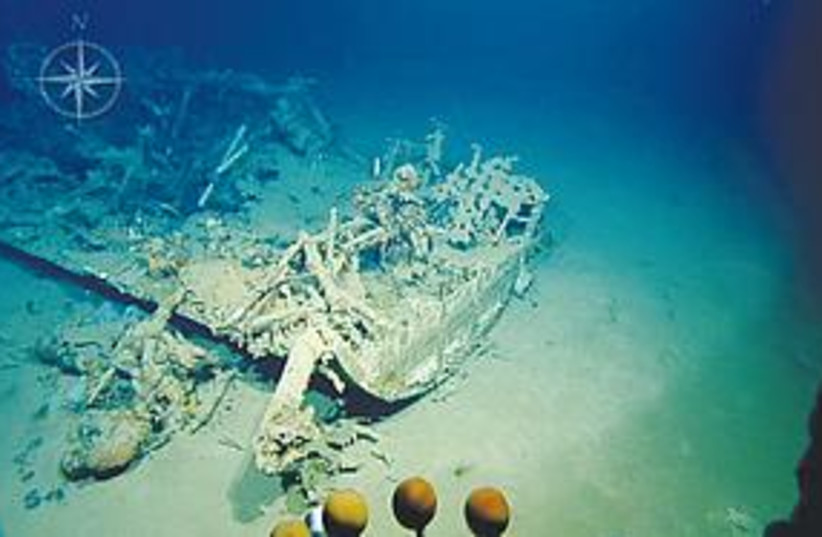 Shipwreck (photo credit: University of Haifa)