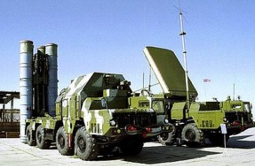 s300 missile truck 311 (photo credit: Associated Press)