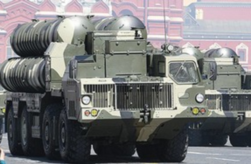 S-300 MISSILES on launcher trucks 311 (photo credit: Courtesy)