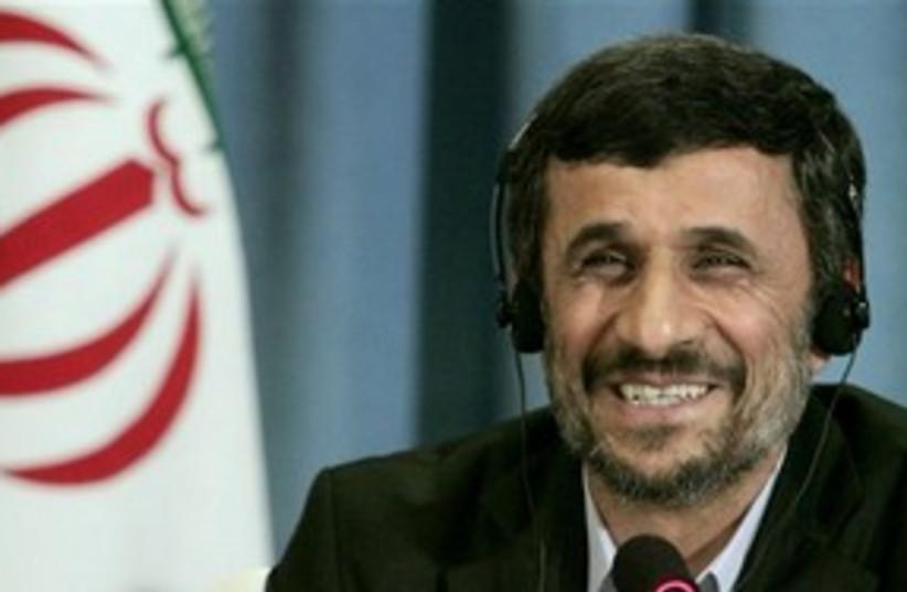 Ahmadinejad NY press conf 311 (photo credit: Associated Press)