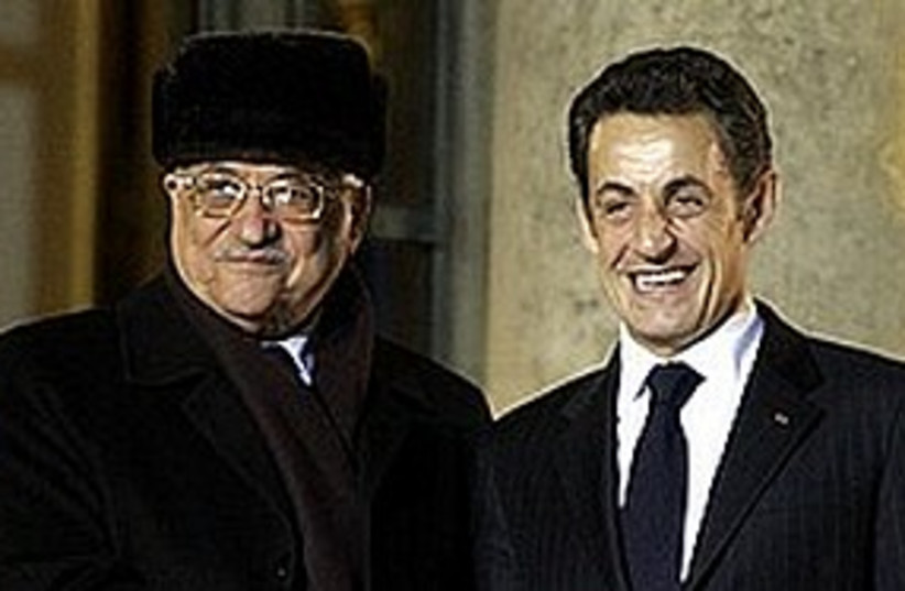 Sarkozy Abbas 311 (photo credit: Associated Press)
