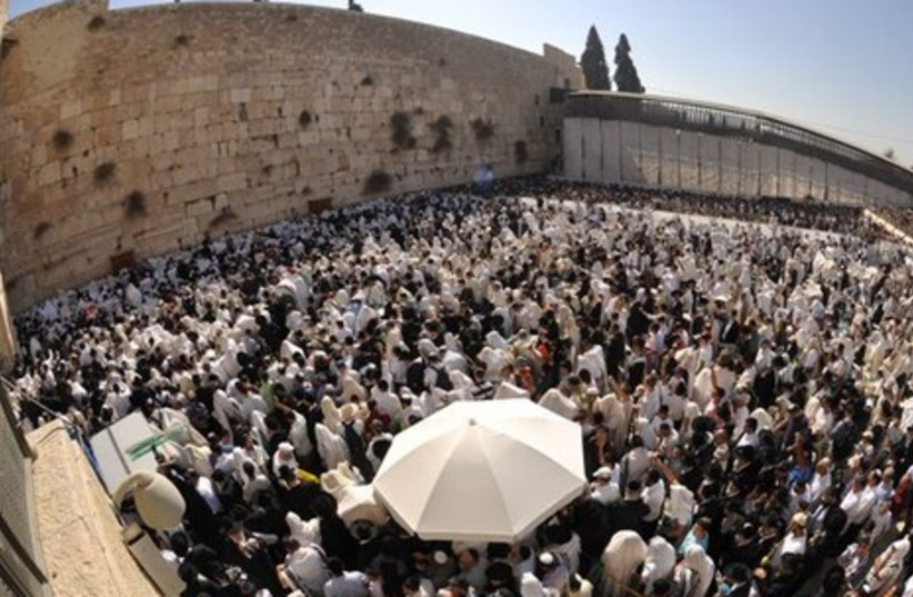 Birkat Hakohanim in Jerusalem on Sunday