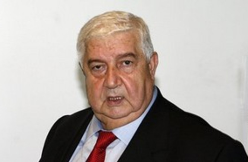 Syria Foreign Minister Walid Moallem 311 (photo credit: AP Photo/David Karp)