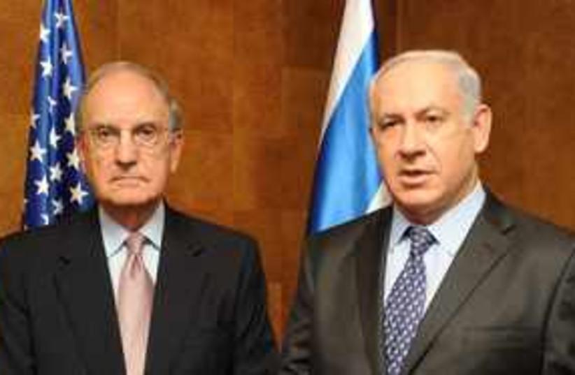 Netanyahu and Mitchell 311 (photo credit: Moshe Milner GPO)
