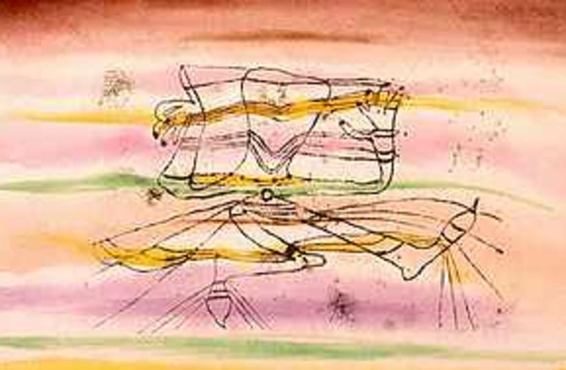 1920 drawing by Swiss artist Paul Klee (photo credit: AP/Israel Museum)