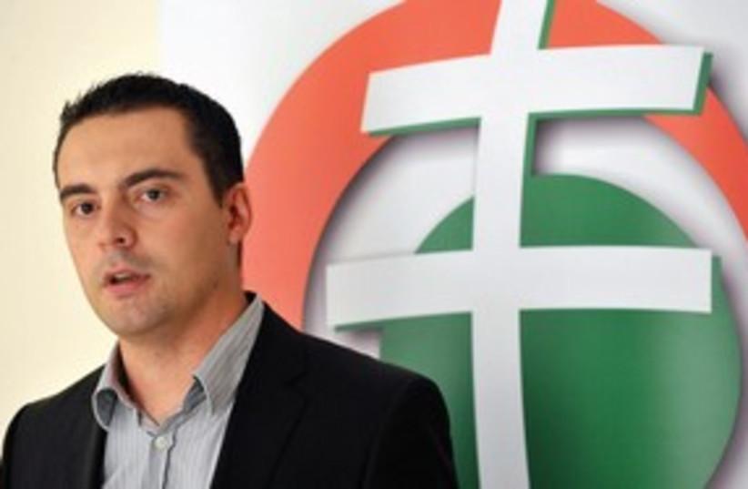 Jobbik party leader Gabor Vona 311 (photo credit: www.kecskemetitv.hu)