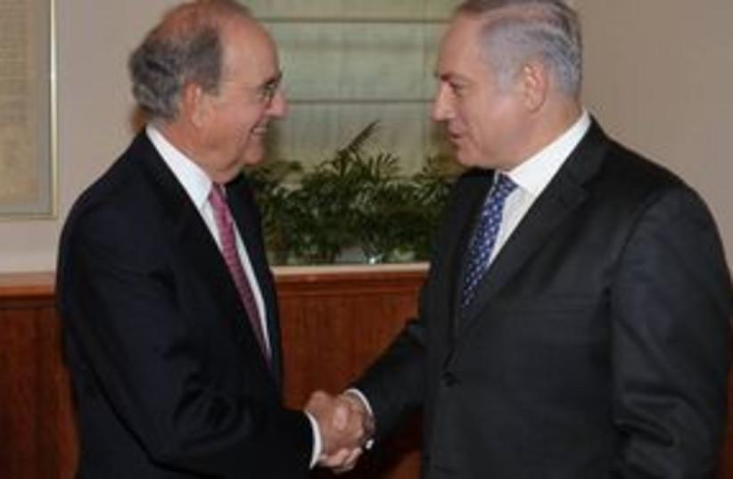 311_Mitchell and Netanyahu (photo credit: Amos Ben-Gershom / GPO)