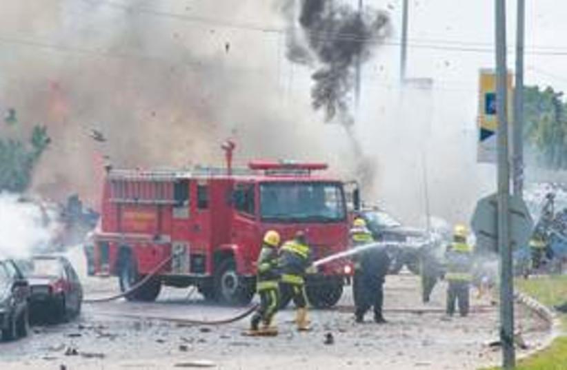 Nigeria car bomb AP 311 (photo credit: Associated Press)