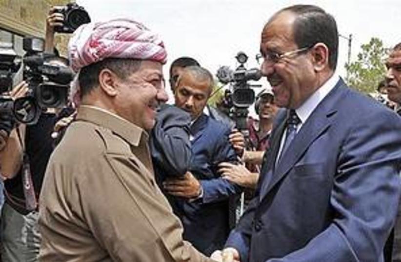 Maliki and Kurdish leader 311 (photo credit: AP)